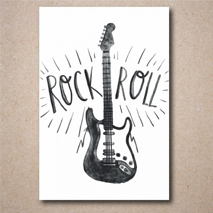 Placa Decorativa Rock n Roll
