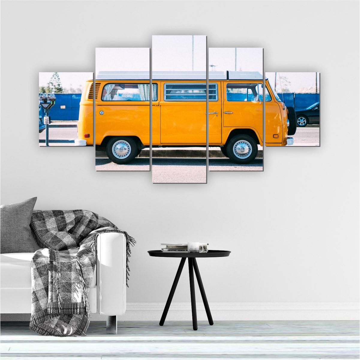 Quadros Decorativos Mosaico Sala Quarto Kombi 5 peças