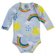 Body infantil céu azul wool kids