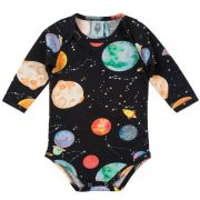Body infantil galáxia wool kids