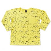Camiseta infantil mountain amarela