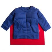 Casaco infantil moletom blue hero