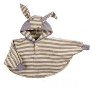 Casaco poncho infantil coelho orelhudo