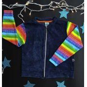 Jaqueta infantil arco-íris wool kids