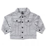 Jaqueta infantil moletom grey