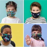 Kit 4 máscaras de proteção tecido infantil - 4 unidades