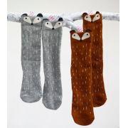 Kit meias infantis raposinhas