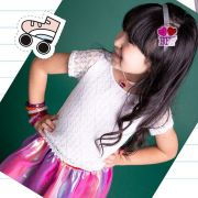 kit pulseira infantil purpurina - 3 unidades