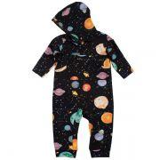 Macacão infantil galáxia capuz wool kids