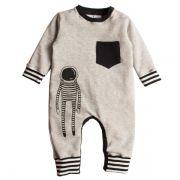 Macacão moletom infantil cosmonauta