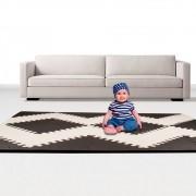 Tapete EVA tatame atividades kit 40 pças 20mm 160x129 Hype Floor preto e branco