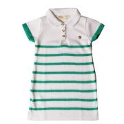 Vestido infantil polo tricô margarida verde Mini Lady