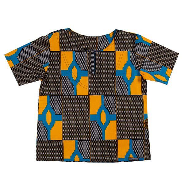 Blusa bata infantil africana Moçambique