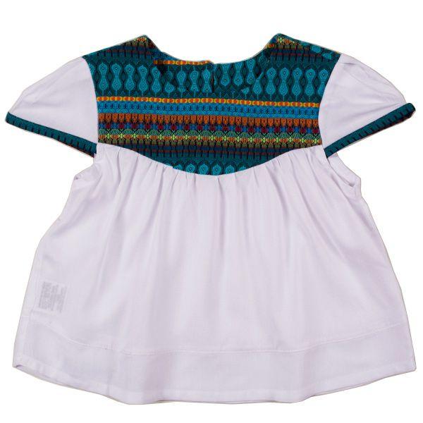 Blusa infantil étnica blue