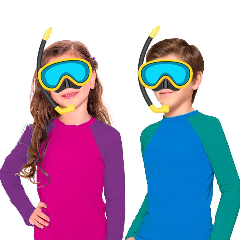 Blusa infantil Proteção Solar UV 50+ Masculina Feminina Bebê