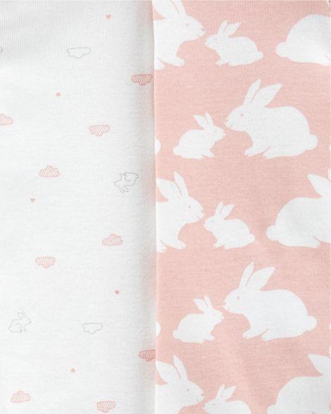 Body carter's manga longa coelho rosa