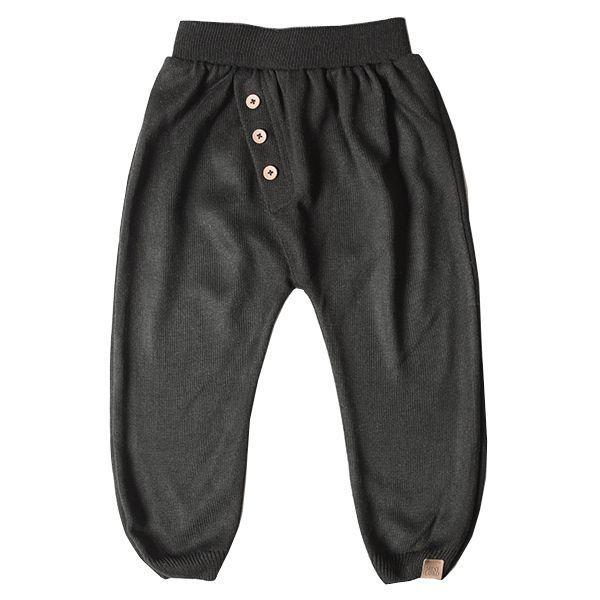 Calça infantil masculina malha tricô Fred preta