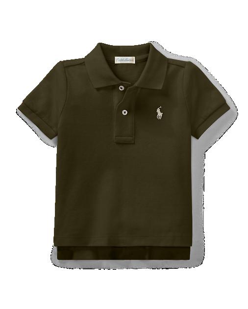 Camisa polo infantil ralph lauren cinza escuro