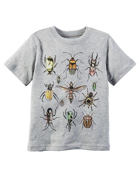 Camiseta infantil carter's insetos
