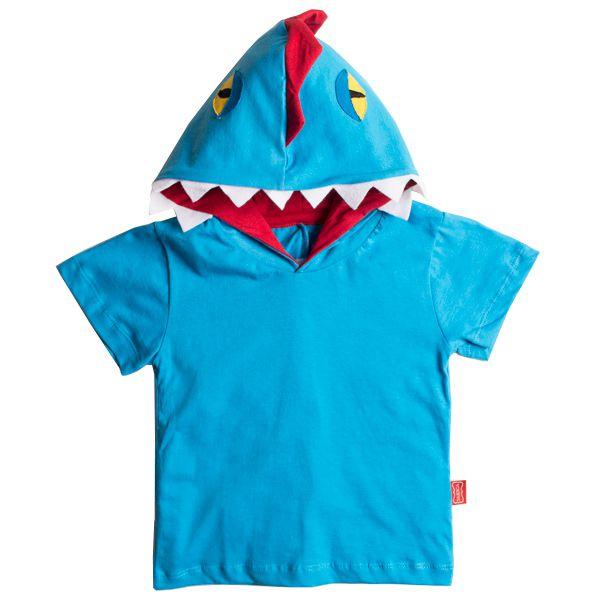 Camiseta infantil dino blue