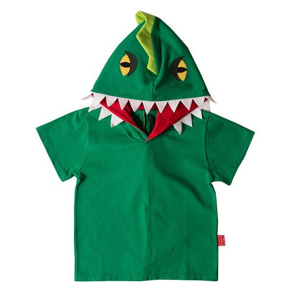 Camiseta infantil masculina dino verde