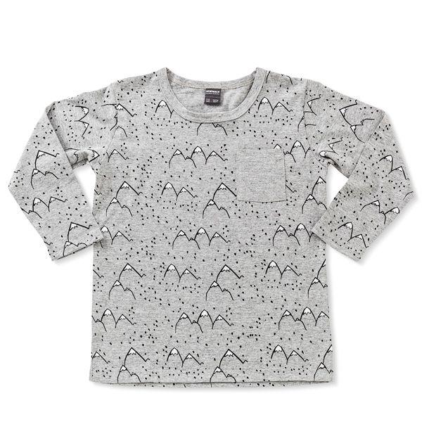 Camiseta infantil mountain cinza