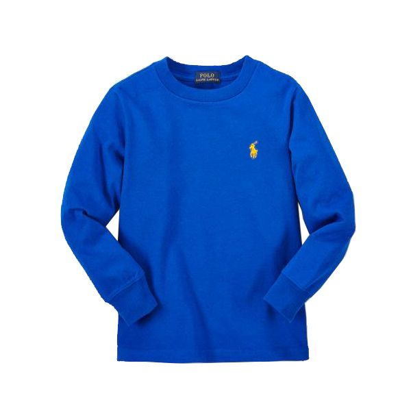 Camiseta infantil Ralph Lauren manga longa azul