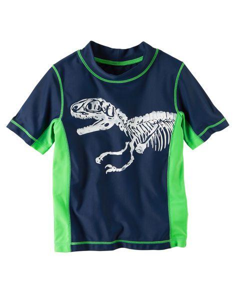 Camiseta praia carter's proteção solar dino