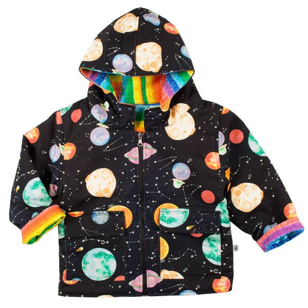 Casaco infantil dupla-face galáxia wool kids