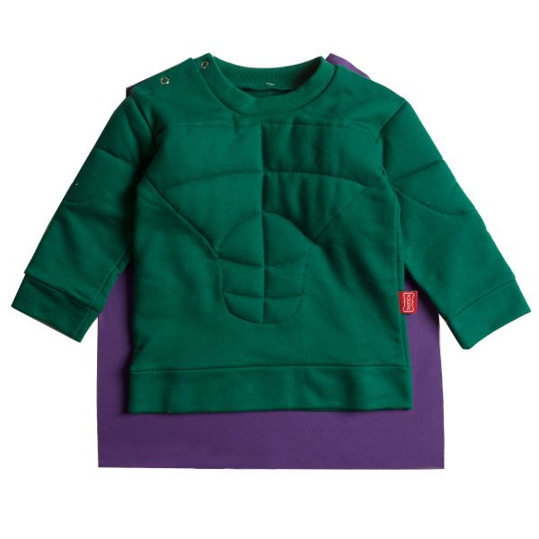 Casaco infantil moletom green hero