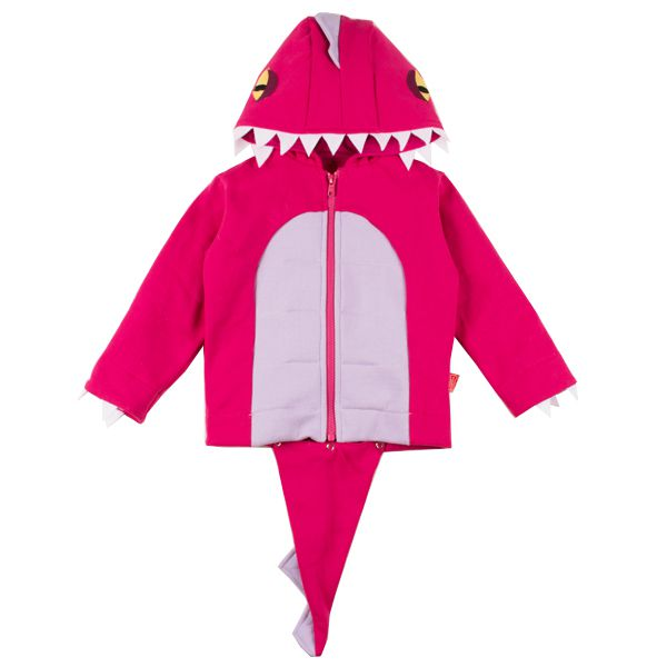 Casaco moletom infantil dinossauro rosa