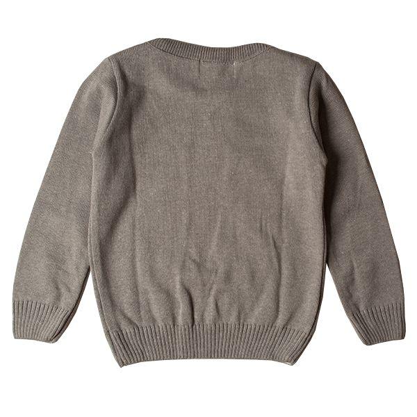 Casaco suéter infantil tricô masculino Dog cinza-mescla