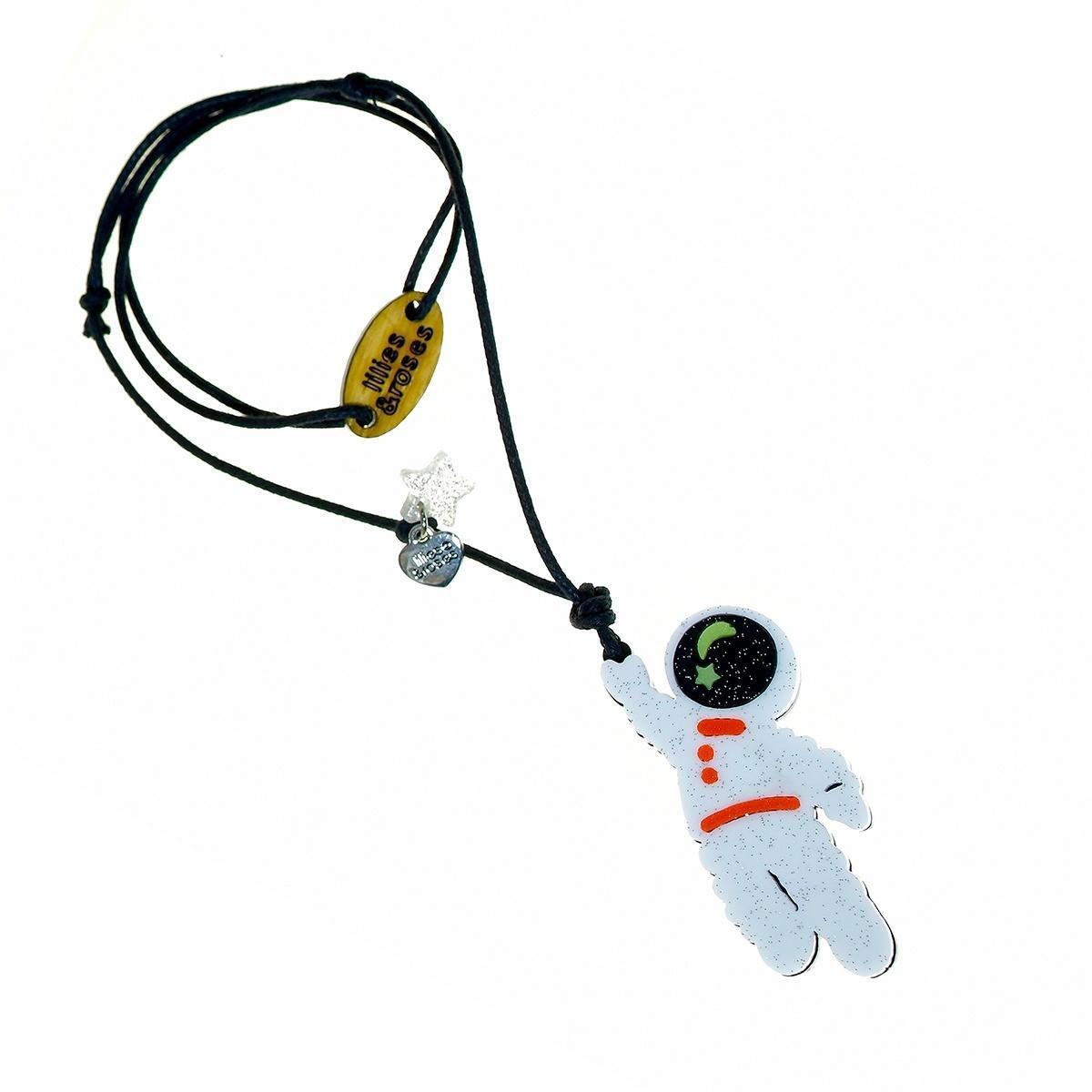 colar infantil astronauta