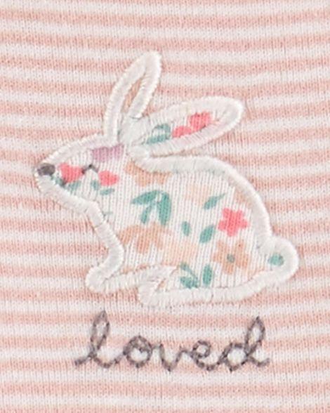 Conjunto carter's 3 peças coelho pink