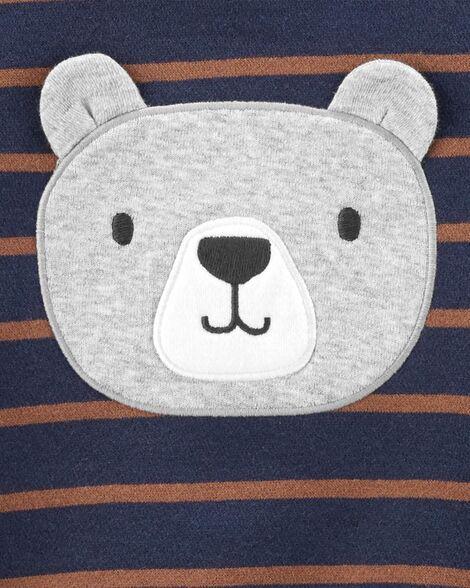 Conjunto carter's 3 peças moletom urso
