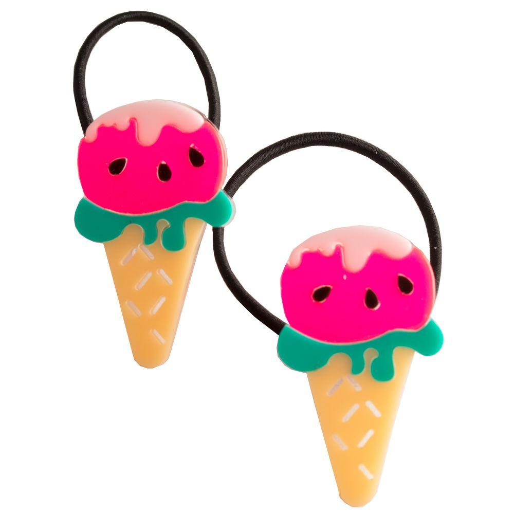 Elástico de cabelo infantil sorvete melancia