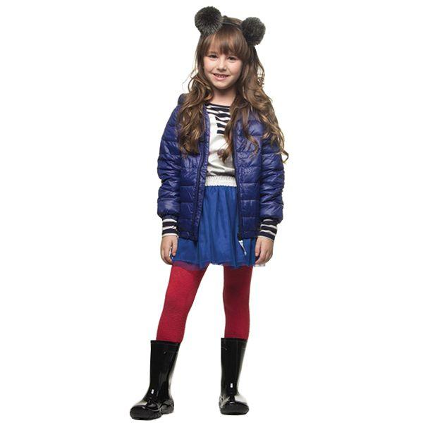 Jaqueta infantil ultraleve nylon azul