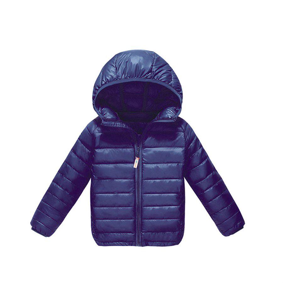 Jaqueta infantil ultraleve nylon azul-marinho
