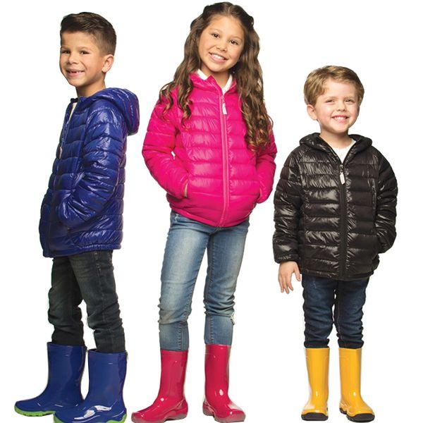 Jaqueta infantil ultraleve nylon preta