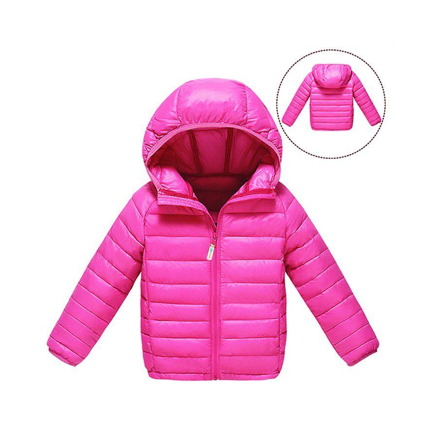 Jaqueta infantil ultraleve nylon rosa