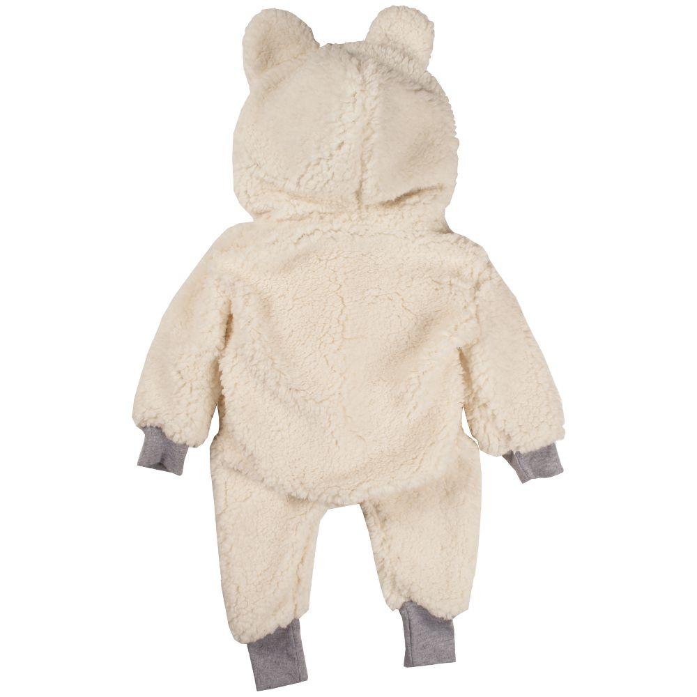 Macacão bebe bichinho ursinho inverno pelúcia pijama branco