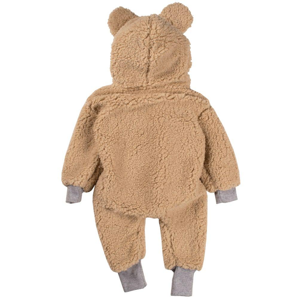 Macacão bebe bichinho ursinho inverno pelúcia pijama marrom claro