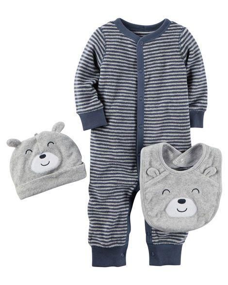 Macacão carter's urso azul