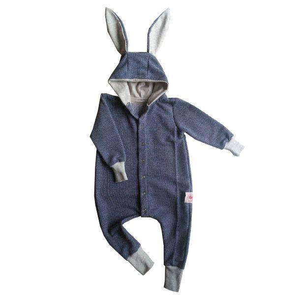 Macacão infantil coelho orelhudo