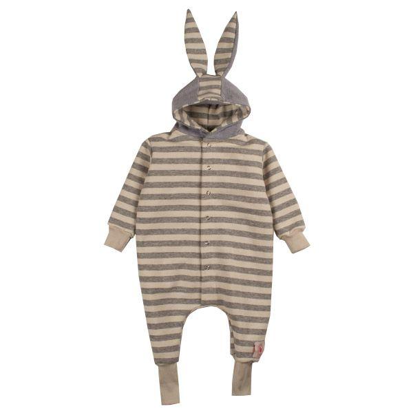 Macacão infantil coelho orelhudo listras