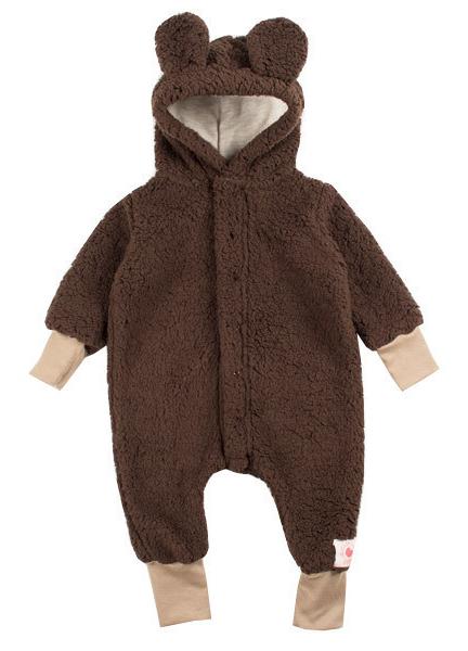 Macacão infantil pelúcia ursinho