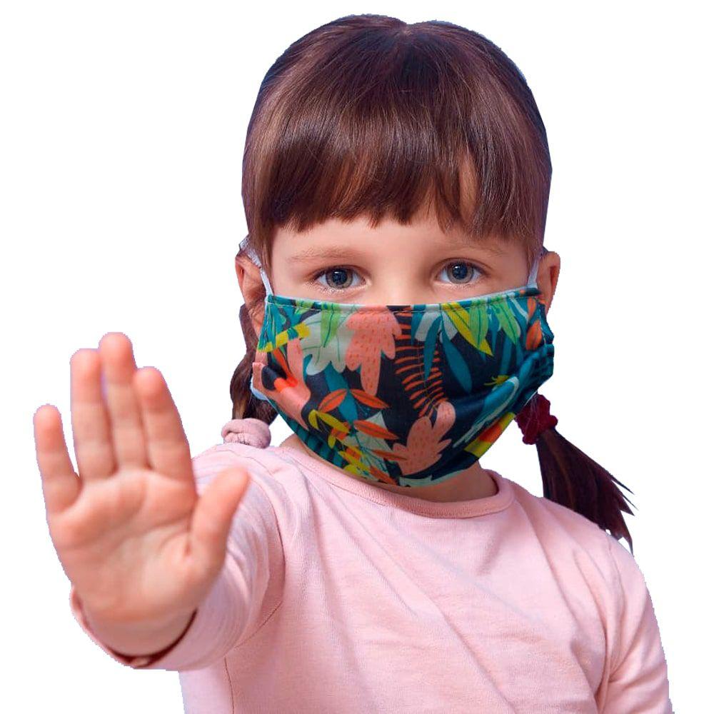 Máscara de proteção tecido infantil floresta