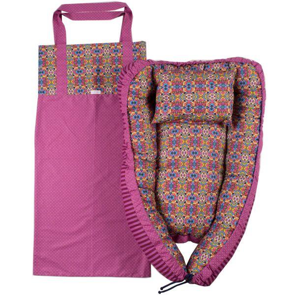 Ninho bebê portátil chiclets pink