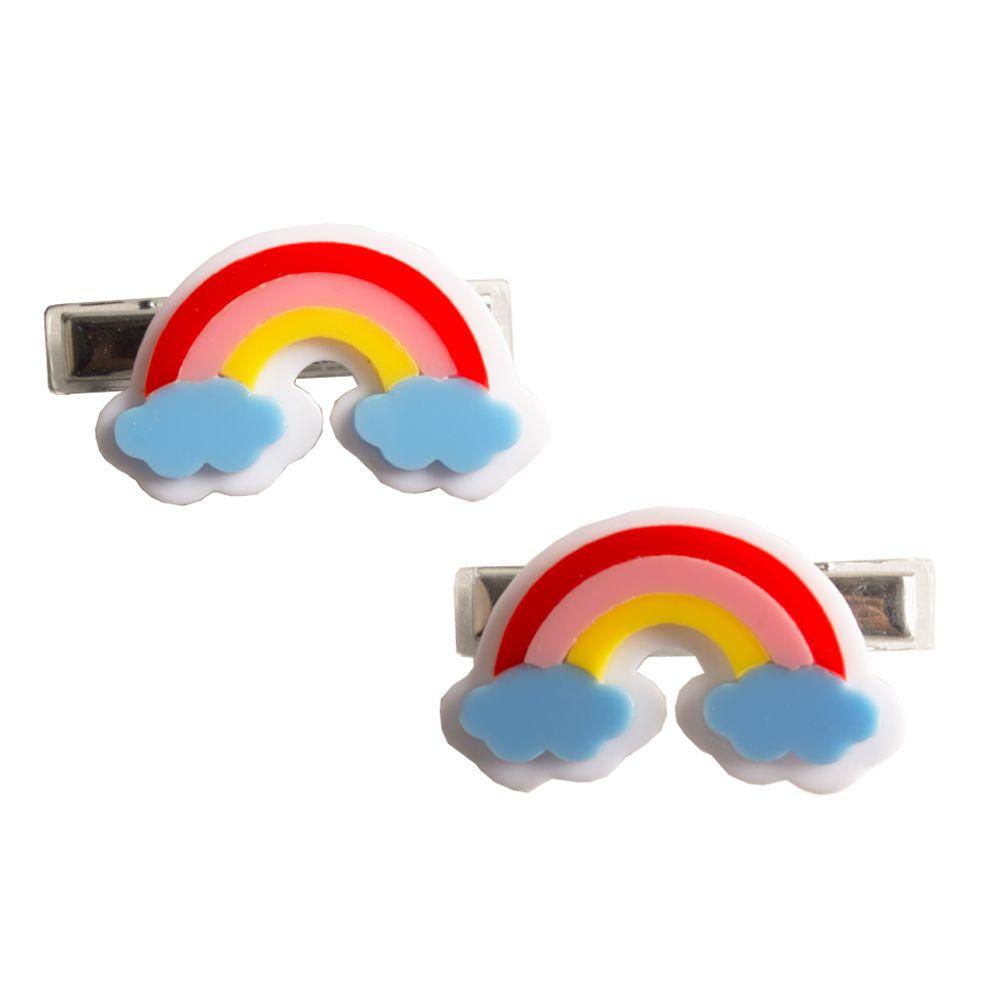Presilha infantil bico de pato arco-íris - 2 unidades