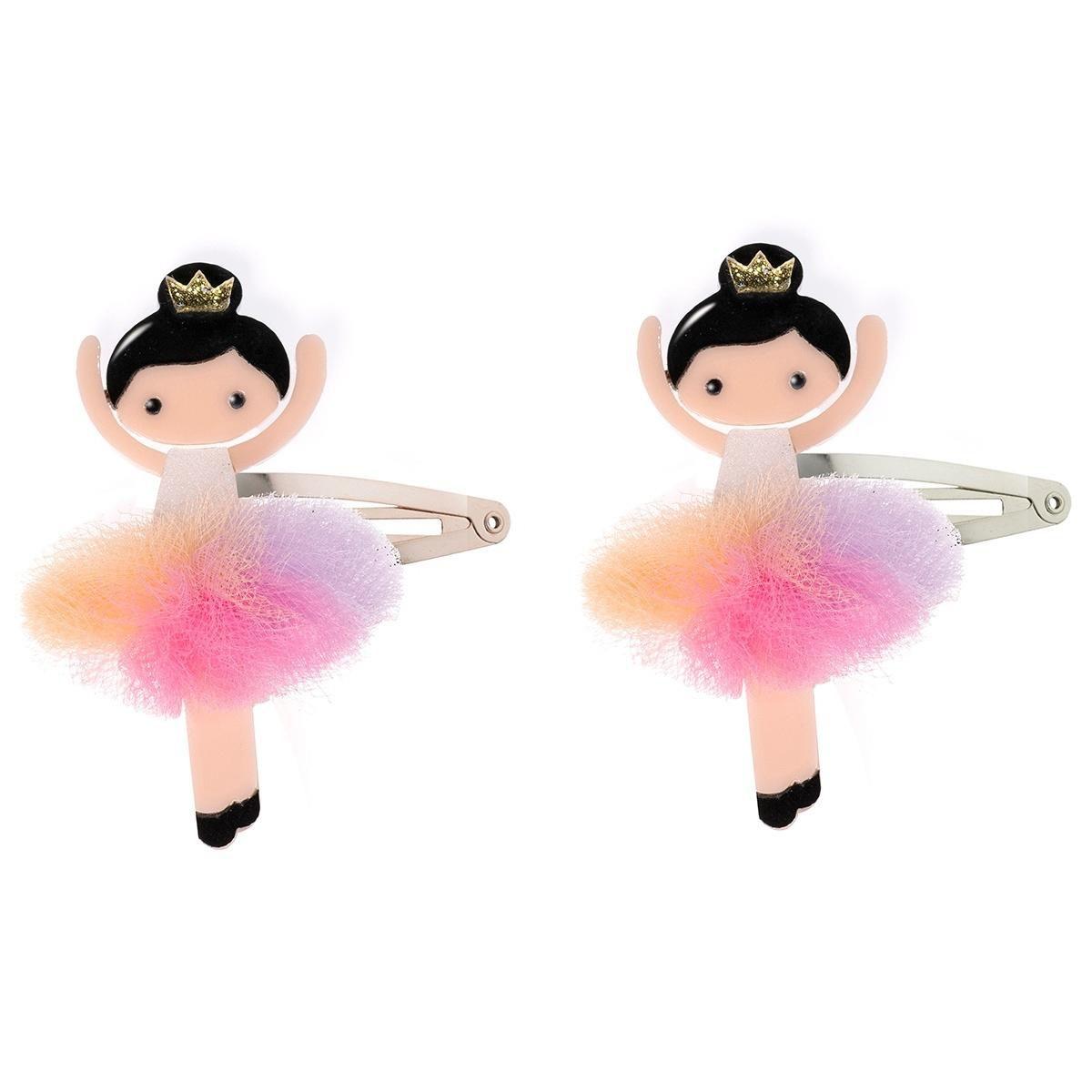 Presilha tic tac infantil bailarina - 2 unidades